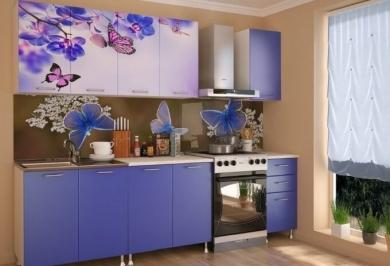 "Кухня ""Бабочки в цветах"""